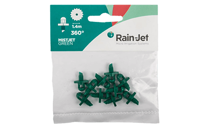 Micro Rainjet Mistjet Green 360D Packed 10
